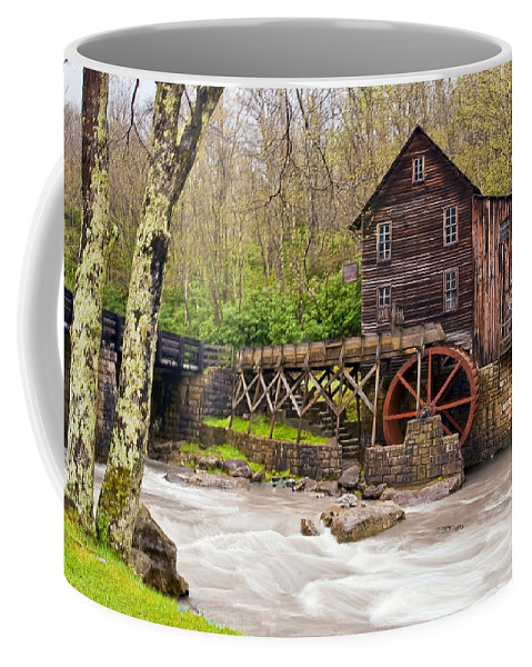 Grist Mill Coffee Mug featuring the photograph Glade Creek by Marcia Colelli