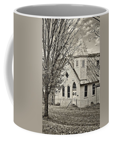 Glady Coffee Mug featuring the photograph Glady Presbyterian Sepia by Steve Harrington