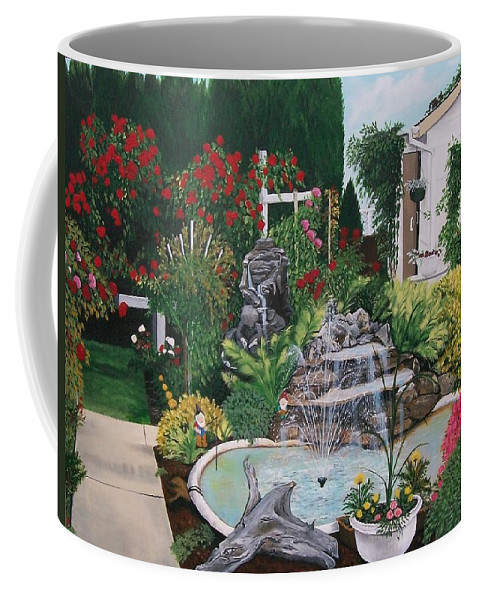 Landscape Coffee Mug featuring the painting Gladys Serenity by Sharon Duguay