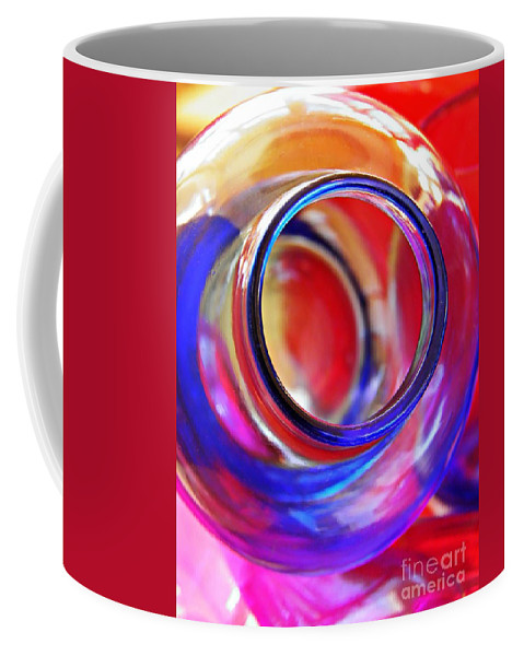 Bottle Coffee Mug featuring the photograph Glass Abstract 592 by Sarah Loft