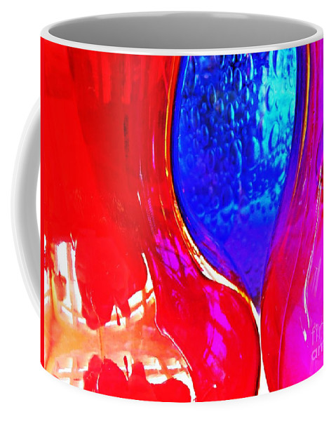 Glass Coffee Mug featuring the photograph Glass Abstract 606 by Sarah Loft