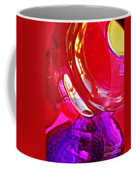 Glass Coffee Mug featuring the photograph Glass Abstract 607 by Sarah Loft
