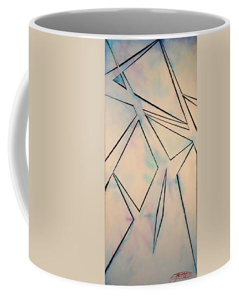 Jack Diamond Coffee Mug featuring the painting Glass And Sky 2 by Jack Diamond