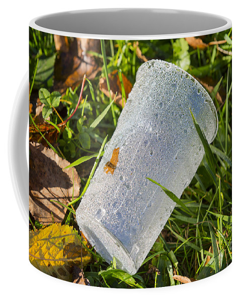 Garbage Coffee Mug featuring the photograph Glass by Mats Silvan