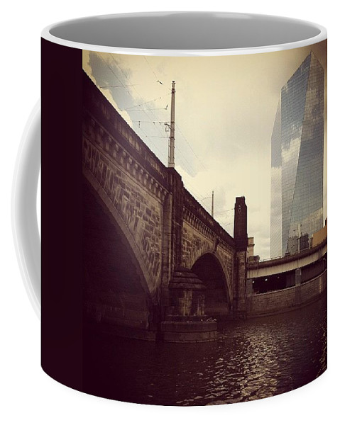 Phillygram Coffee Mug featuring the photograph Glass View by Katie Cupcakes