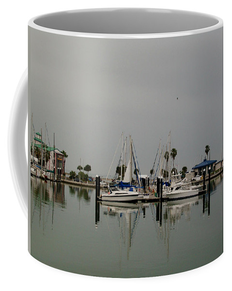 Corpus Christi Bay Coffee Mug featuring the photograph Glassy Water by Laurette Escobar