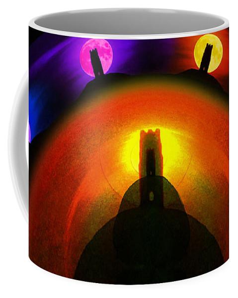 Glastonbury Coffee Mug featuring the painting Glastonbury Tor by Neil Finnemore