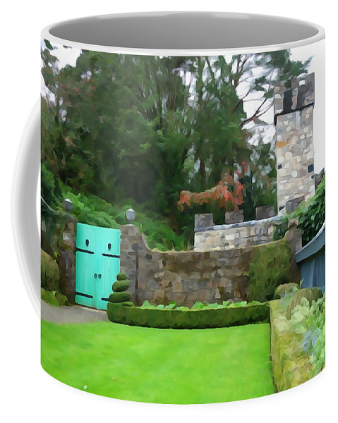 Gate Coffee Mug featuring the photograph Glenveagh Garden Gate by Charlie and Norma Brock