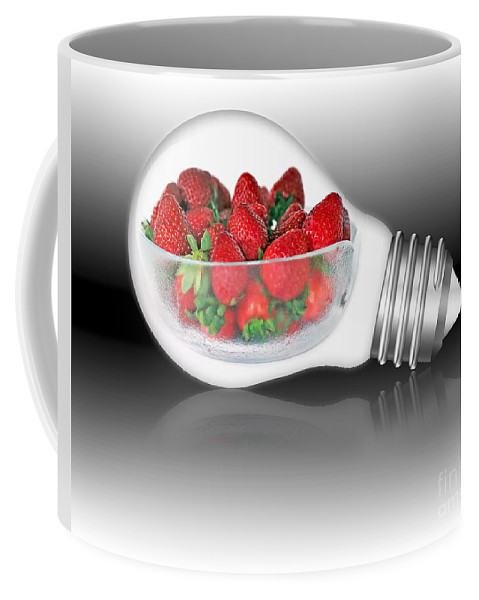 Photography Coffee Mug featuring the photograph Global Strawberries by Kaye Menner