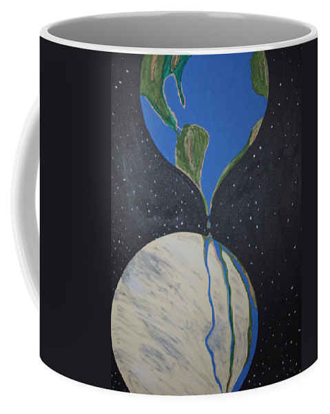 Enviromental Coffee Mug featuring the painting Global Warming by Dean Stephens