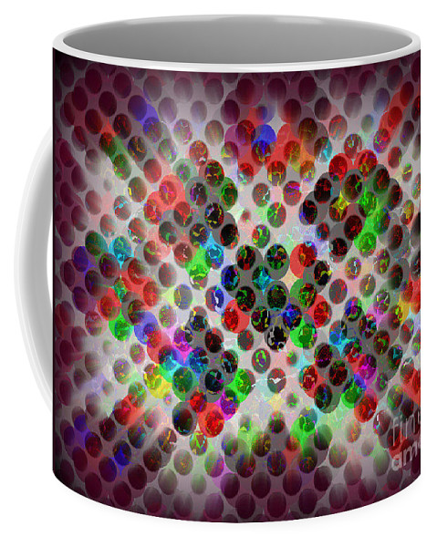 Abstract Coffee Mug featuring the photograph Globes 1 by Miriam Danar