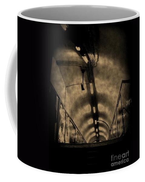 Subway Coffee Mug featuring the photograph Gloom by John Malone