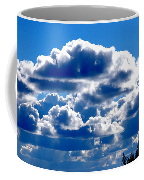 Cloud Coffee Mug featuring the photograph Glorious Clouds II by Kathy Sampson