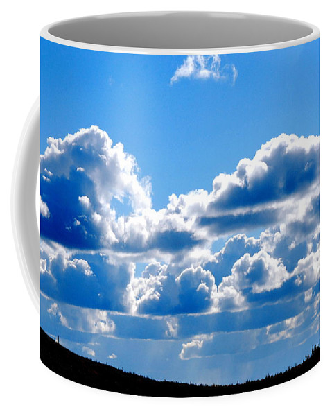 Cloud Coffee Mug featuring the photograph Glorious Clouds by Kathy Sampson