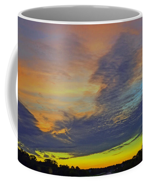 Glorious Sunset.sunset.sunsets.sunrises Coffee Mug featuring the photograph Glorious Sunset by Luther Fine Art