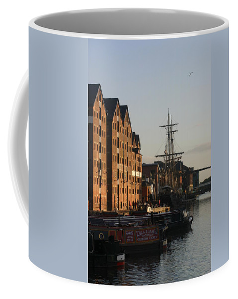 Gloucester Docks Tall Ships Barges Warehouses Coffee Mug featuring the photograph Gloucester Docks 2 by Andy Lloyd