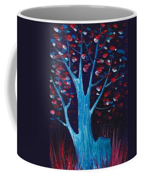 Malakhova Coffee Mug featuring the painting Glowing Night by Anastasiya Malakhova