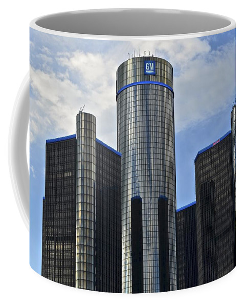 General Coffee Mug featuring the photograph Gm Building by Frozen in Time Fine Art Photography
