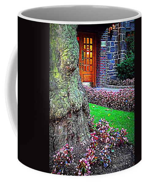 Flowers Coffee Mug featuring the photograph Gnarly Tree With Flowers by Miriam Danar
