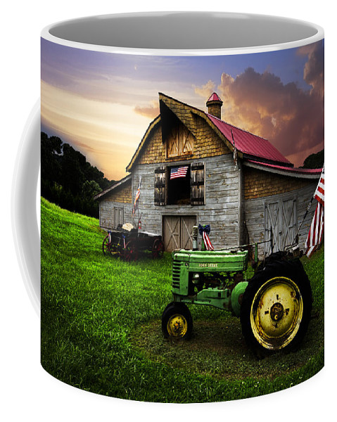 American Coffee Mug featuring the photograph God Bless America by Debra and Dave Vanderlaan