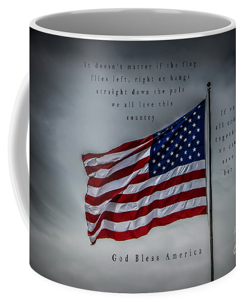 Red Coffee Mug featuring the photograph God Bless America by Ronald Grogan