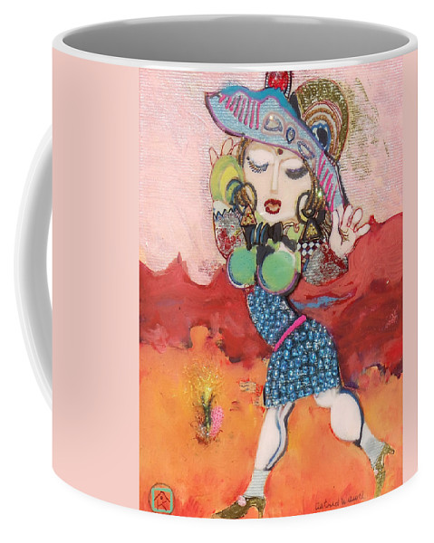 Fantasy Coffee Mug featuring the painting Goddess Of Beauty by Atanas Karpeles