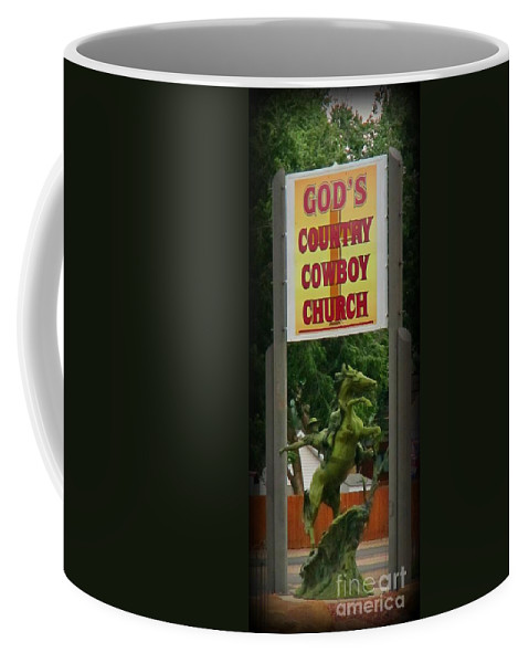 Gods Country Cowboy Church Coffee Mug featuring the photograph Gods Country Cowboy Church by John Malone