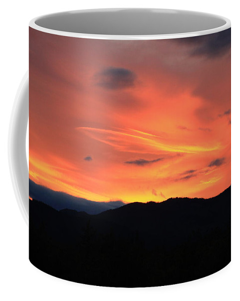 Sunset Coffee Mug featuring the photograph God's Finger by Marv Russell