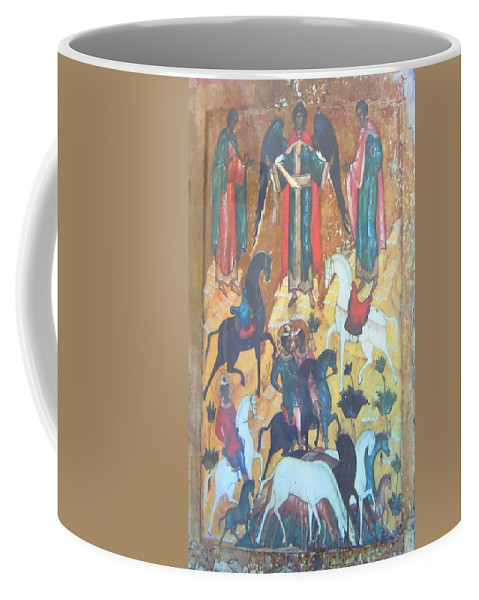 Angel Coffee Mug featuring the photograph God's Horse Masters-the Deposition by Anastasia Savage Ealy