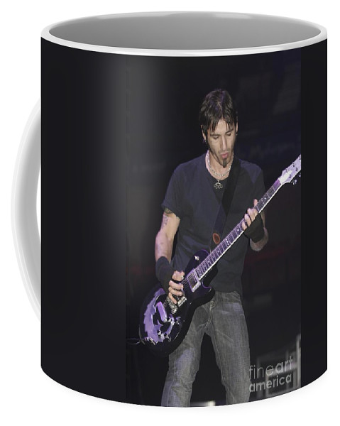 Singer Coffee Mug featuring the photograph Godsmack - Sully Erna by Concert Photos