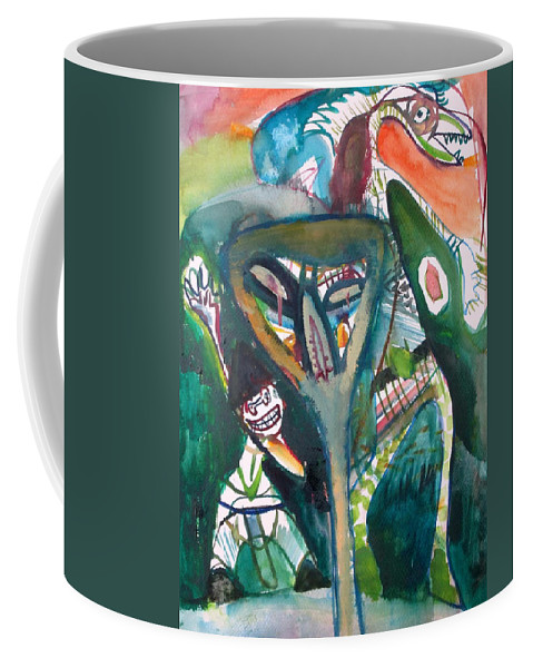 People Coffee Mug featuring the painting Going On Forever by Fabrizio Cassetta