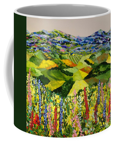 Landscape Coffee Mug featuring the painting Going Wild by Allan P Friedlander