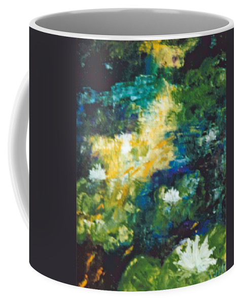 Gold Fish Coffee Mug featuring the painting Gold Fish Pond by Lord Frederick Lyle Morris
