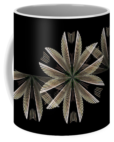 Gold Floral Abstract Coffee Mug featuring the digital art Gold Floral Abstract by Maria Urso