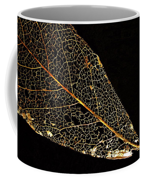 Leaf Coffee Mug featuring the photograph Gold Leaf by Ann Horn