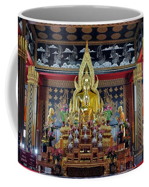 3scape Photos Coffee Mug featuring the photograph Golden Buddha by Adam Romanowicz