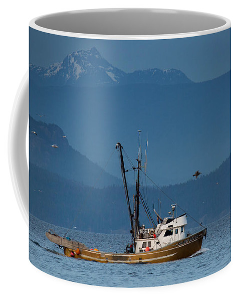 Fishing Boat Coffee Mug featuring the photograph Golden Chalice by Randy Hall