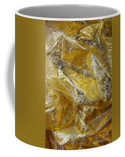 Abstract Coffee Mug featuring the photograph Golden Fabric by Carlos Caetano