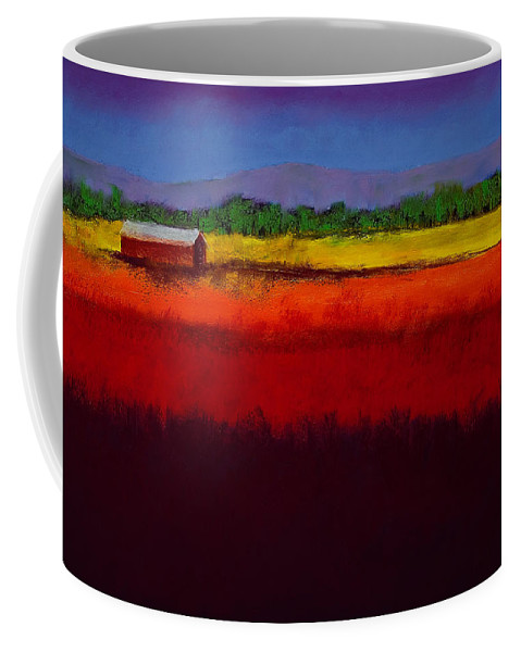 Golden Field Coffee Mug featuring the painting Golden Field by David Patterson