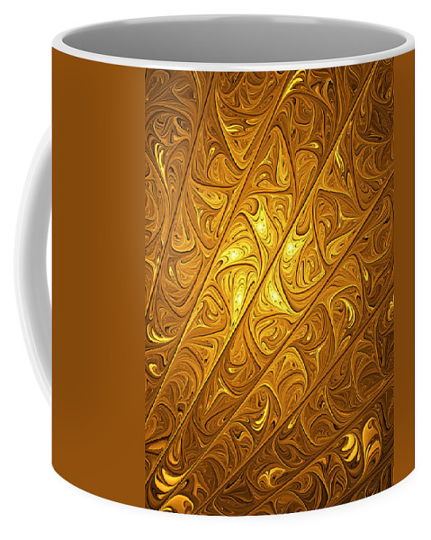 Digital Art Coffee Mug featuring the digital art Golden by Gabiw Art