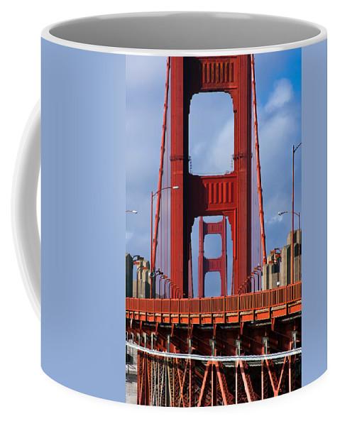 3scape Coffee Mug featuring the photograph Golden Gate Bridge by Adam Romanowicz