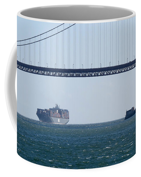 Travel Coffee Mug featuring the photograph Golden Gate Bridge 3 by Mary Mikawoz