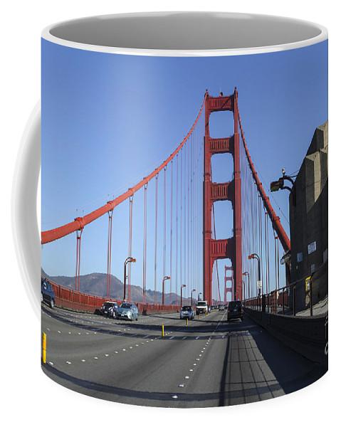 California Coffee Mug featuring the photograph Golden Gate Bridge by Gal Eitan