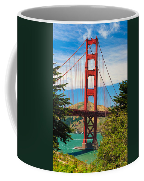 Architecture Coffee Mug featuring the photograph Golden Gate Bridge by Raul Rodriguez