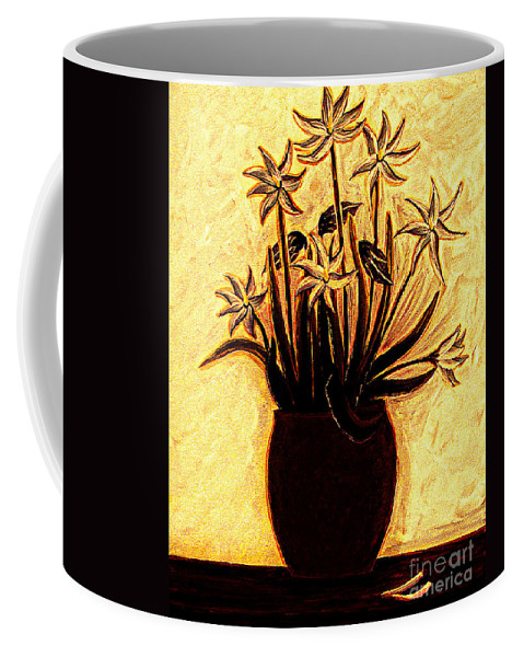 Golden Glories Coffee Mug featuring the painting Golden Glories by Barbara Griffin