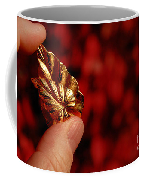Autumn Coffee Mug featuring the photograph Golden Leaves by Amy Cicconi