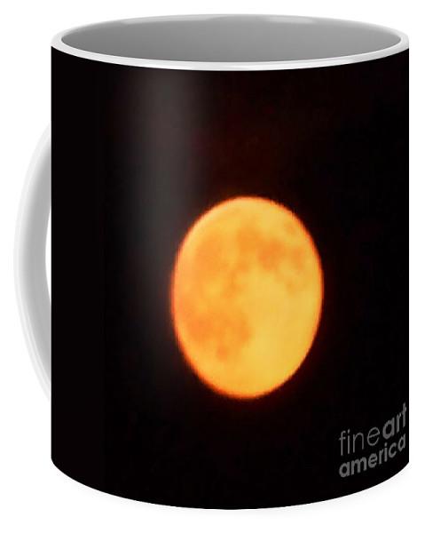 Moon Coffee Mug featuring the photograph Golden Moon by Eric Schiabor