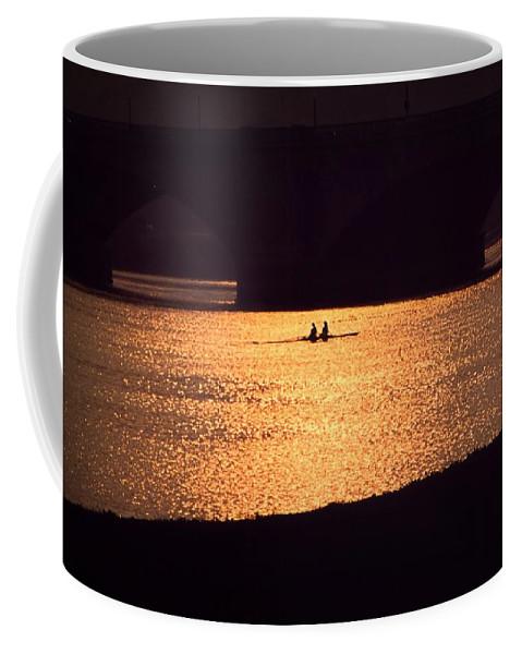 Potomac Coffee Mug featuring the photograph Golden Potomac by DJ Florek