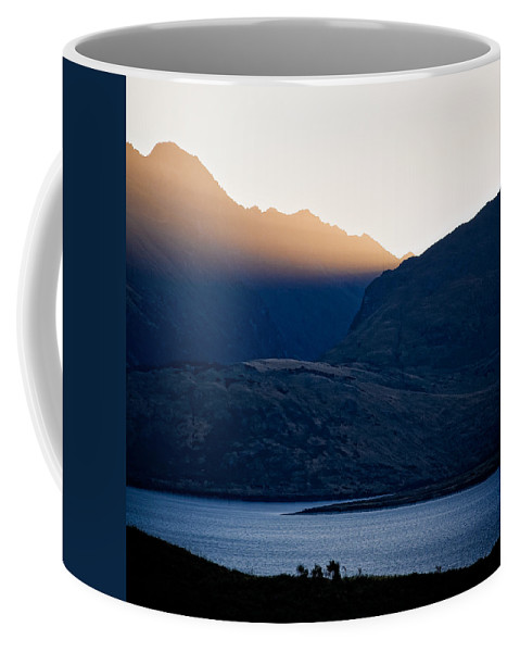 New Zealand Coffee Mug featuring the photograph Golden Rays by Dave Bowman