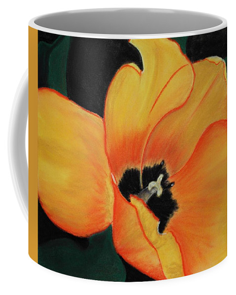 Malakhova Coffee Mug featuring the painting Golden Tulip by Anastasiya Malakhova